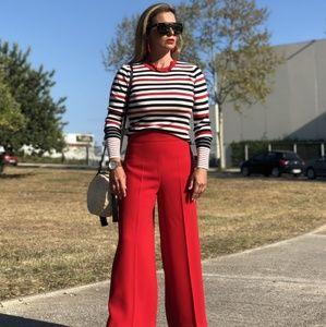 Zara Striped Top Long Sleeve Red Black 9874/010